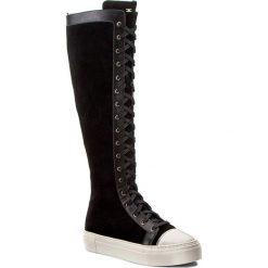 Kozaki ELISABETTA FRANCHI - SA-11S-76E2-V382 Nero/Avorio 314. Czarne buty zimowe damskie Elisabetta Franchi, ze skóry. W wyprzedaży za 1059,00 zł.