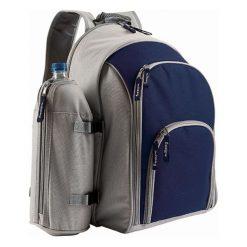 Plecak piknikowy z akcesoriami - (S)45 x (W)40 x (G)23 cm. Czerwone plecaki męskie Przygotowania do majówki, z materiału. W wyprzedaży za 179,95 zł.