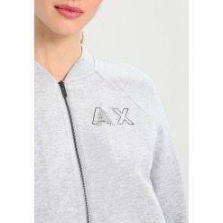 Armani Exchange Bluza rozpinana heather grey. Czarne bluzy rozpinane damskie marki Armani Exchange, l, z materiału, z kapturem. W wyprzedaży za 351,20 zł.