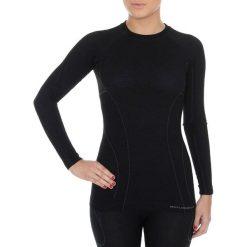 Bluzki sportowe damskie: Brubeck Koszulka damska z długim rękawem Active Wool czarna r. XL (LS12810)