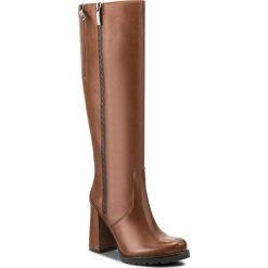 Kozaki EVA MINGE - Dominga 2I 17SF1372281EF 104. Brązowe buty zimowe damskie Eva Minge, ze skóry. W wyprzedaży za 349,00 zł.