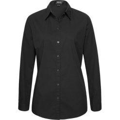 Bluzka z długim rękawem bonprix czarny. Czarne bluzki asymetryczne bonprix, z długim rękawem. Za 54,99 zł.