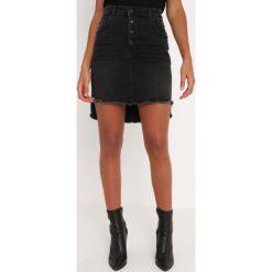 Replay SKIRT Spódnica jeansowa black denim. Niebieskie minispódniczki marki Replay. Za 409,00 zł.