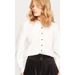 Koszula z bawełny organicznej - Biały. Białe koszule damskie marki Reserved, z bawełny. W wyprzedaży za 39,99 zł.