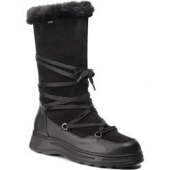 Śniegowce GEOX - D Hosmos B Abx B D84AUB 02285 C9999 Black. Czarne buty zimowe damskie Geox, ze skóry ekologicznej. W wyprzedaży za 519,00 zł.