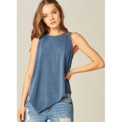 Bluzki, topy, tuniki: Asymetryczny top – Niebieski