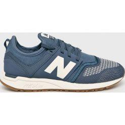 New Balance - Buty. Szare buty sportowe damskie New Balance, z gumy. W wyprzedaży za 299,90 zł.