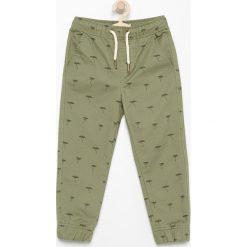 Chinosy chłopięce: Spodnie jogger - Khaki