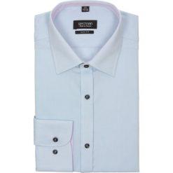 Koszula bexley 2026 długi rękaw slim fit niebieski. Niebieskie koszule męskie jeansowe marki Recman, m, z klasycznym kołnierzykiem, z długim rękawem. Za 29,99 zł.