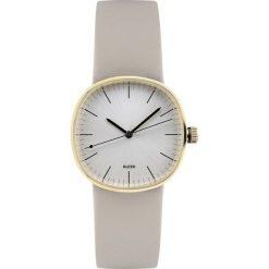 Zegarki damskie: Zegarek damski Tic15 skórzany beżowy pasek srebrno-złota tarcza