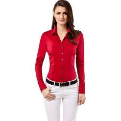 Bluzka w kolorze czerwonym. Czerwone topy sportowe damskie Vincenzo Boretti, z bawełny, z klasycznym kołnierzykiem, z długim rękawem. W wyprzedaży za 260,95 zł.