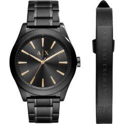 Armani Exchange Zegarek schwarz. Czarne zegarki męskie marki Armani Exchange, l, z materiału, z kapturem. Za 879,00 zł.