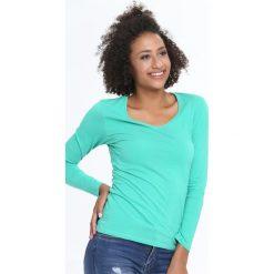 Miętowa Bluzka Convenience. Zielone bluzki asymetryczne Born2be, l, z długim rękawem. Za 24,99 zł.