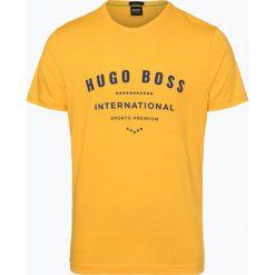 BOSS Athleisurewear - T-shirt męski – Tee 1, żółty. Żółte t-shirty męskie z nadrukiem BOSS Athleisurewear, l. Za 249,95 zł.