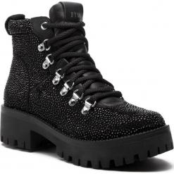 Trapery STEVE MADDEN - Bam Bootie SM11000329-04001-998 Rhinestone. Czarne buty zimowe damskie marki Steve Madden, ze skóry ekologicznej. W wyprzedaży za 449,00 zł.