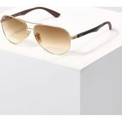 RayBan Okulary przeciwsłoneczne gold/crystal brown gradient. Szare okulary przeciwsłoneczne męskie wayfarery marki Ray-Ban, z materiału. Za 859,00 zł.