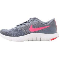 Nike Performance FLEX CONTACT Obuwie do biegania treningowe dark sky blue/racer pink/thunder blue/white. Szare buty do biegania damskie Nike Performance, z materiału. W wyprzedaży za 186,75 zł.