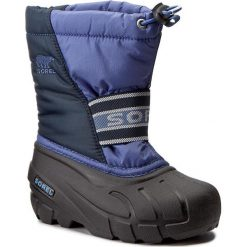 Śniegowce SOREL - Childrens Cub NC1881 Blues 498. Niebieskie buty zimowe chłopięce Sorel, z gumy. W wyprzedaży za 189,00 zł.