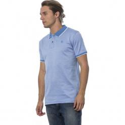 Koszulka polo w kolorze niebieskim. Niebieskie koszulki polo marki GALVANNI, l, z okrągłym kołnierzem. W wyprzedaży za 319,95 zł.