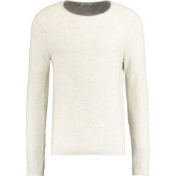 Swetry klasyczne męskie: Selected Homme SHNBAS CREW NECK Sweter grey/papyrus twist