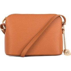Torebki klasyczne damskie: Skórzana torebka w kolorze jasnobrązowym - 20 x 14 x 7 cm