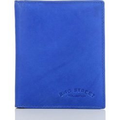 PORTFEL MĘSKI BAG STREET W PUDEŁKU. Niebieskie portfele męskie marki Bag Street, ze skóry. Za 39,90 zł.