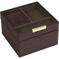 Zegarki męskie: Pudełko na spinki i zegarki Stackers z pokrywką brązowo-khaki
