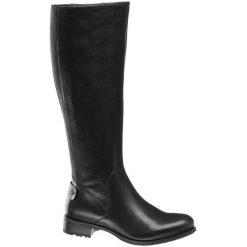 Kozaki damskie 5th Avenue czarne. Czarne buty zimowe damskie 5th Avenue, z materiału, na obcasie. Za 319,90 zł.