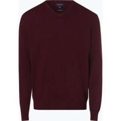 Andrew James - Sweter męski z dodatkiem kaszmiru, czerwony. Czerwone swetry klasyczne męskie Andrew James, m, z kaszmiru, z dekoltem w serek. Za 229,95 zł.