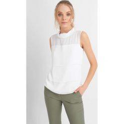 T-shirty damskie: Dwuwarstwowa koszulka z golfem