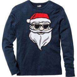 Sweter Regular Fit bonprix ciemnoniebieski. Niebieskie swetry klasyczne męskie marki bonprix, l. Za 69,99 zł.