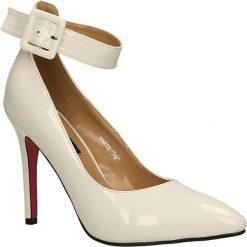 CZÓŁENKA CASU PA174. Szare buty ślubne damskie Casu, na koturnie. Za 64,99 zł.
