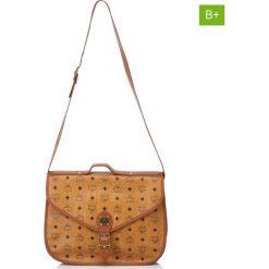 Torebki klasyczne damskie: Skórzana torebka w kolorze jasnobrązowym – 36 x 28 x 12 cm