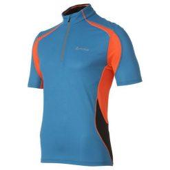 Odlo Koszulka męska Stand-up collar s/s 1/2 zip CHIP niebieski r. XL (346562). Niebieskie t-shirty męskie Odlo, m. Za 269,95 zł.