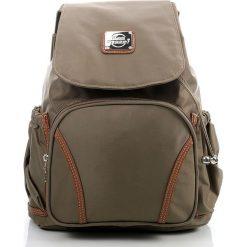 Plecak damski Bag Street Khaki. Brązowe plecaki damskie marki Bag Street, eleganckie. Za 77,90 zł.