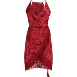 Sukienki hiszpanki: Glamorous Sukienka letnia burgendy