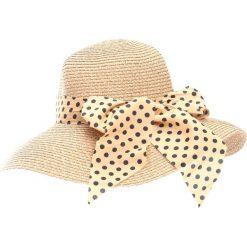 Ciemnobeżowy Kapelusz Rise Myself. Białe kapelusze damskie marki Born2be, na lato. Za 39,99 zł.