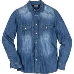 """Koszula dżinsowa z długim rękawem bonprix niebieski """"stone used"""". Niebieskie koszule męskie na spinki bonprix, l, z długim rękawem. Za 59,99 zł."""