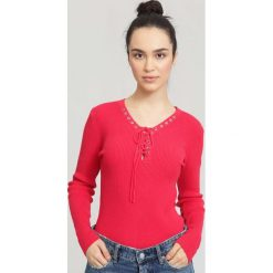 Fuksjowy Sweter Somebody Like You. Różowe swetry klasyczne damskie other, na jesień, l. Za 69,99 zł.