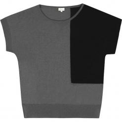 Sweter jedwabny w kolorze szaro-czarnym. Czarne swetry klasyczne damskie marki Ateliers de la Maille, z jedwabiu. W wyprzedaży za 272,95 zł.