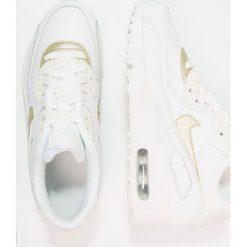 Nike Sportswear AIR MAX 90 Tenisówki i Trampki summit white/metallic gold star. Białe trampki chłopięce Nike Sportswear, z materiału, retro. Za 449,00 zł.