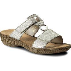 Sandały damskie: Klapki RIEKER - 658P9-80 Weiss