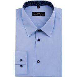 Koszula MICHELE 16-08-08-K. Białe koszule męskie na spinki marki Giacomo Conti, m, z bawełny, z klasycznym kołnierzykiem. Za 229,00 zł.