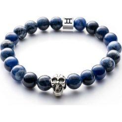 Bransoletki damskie: Bransoletka Gemini Classic Skull Blue C2-G