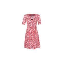 Sukienki krótkie Loreak Mendian  LOLI. Czerwone sukienki mini marki Loreak Mendian, s, z krótkim rękawem. Za 423,20 zł.