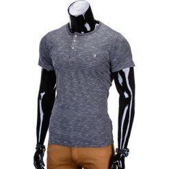 T-shirty męskie: T-SHIRT MĘSKI BEZ NADRUKU S742 – GRAFITOWY