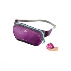 Torba nerka TRAVEL ultra compact. Fioletowe torebki klasyczne damskie marki QUECHUA, z materiału. Za 19,99 zł.