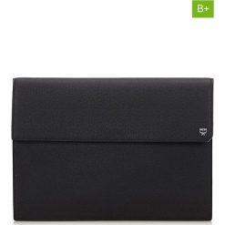 Puzderka: Skórzana kopertówka w kolorze czarnym – 34 x 25 x 5,5 cm