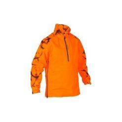 Bluza myśliwska SUPERTRACK FLUO. Czerwone bluzy męskie rozpinane marki KALENJI, m, z elastanu, z długim rękawem, długie. W wyprzedaży za 199,99 zł.