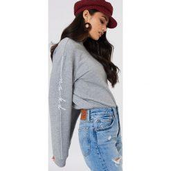Bluzy damskie: NA-KD Trend Bluza dresowa – Grey
